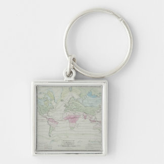 Map of the World 8 Key Ring