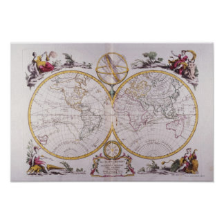 Map of the World 8 Poster