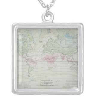 Map of the World 8 Silver Plated Necklace