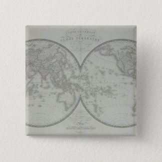 Map of the World 9 15 Cm Square Badge