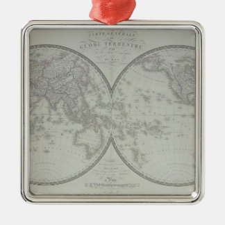 Map of the World 9 Christmas Ornament