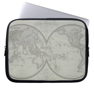 Map of the World 9 Laptop Sleeves