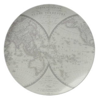 Map of the World 9 Plate