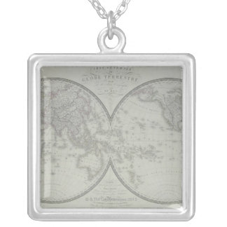 Map of the World 9 Silver Plated Necklace