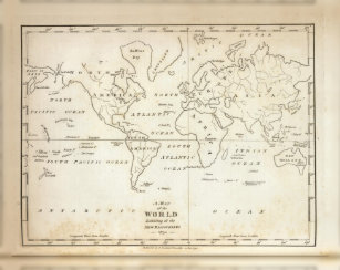World map canvas prints wall art zazzle map of the world canvas print gumiabroncs Choice Image