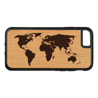 Map of the World Carved iPhone 8/7 Case