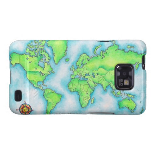 Map of the World Samsung Galaxy Cover