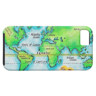 Map of the World & Equator iPhone 5 Covers
