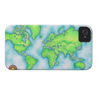 Map of the World iPhone 4 Cases