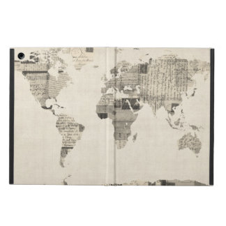 Map of the World Map from Old Postcards Case For iPad Air