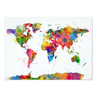 Map of the World Map Watercolor Announcements
