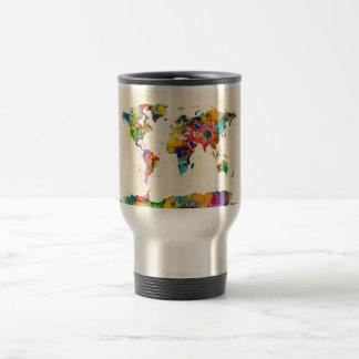 Map of the World Map Watercolor Coffee Mug