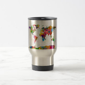 Map of the World Map Watercolor Coffee Mugs