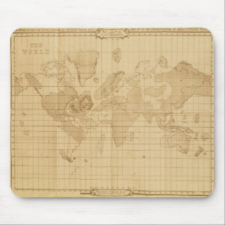 Map of the world mouse mat
