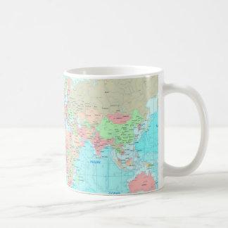 Map of the world classic white coffee mug