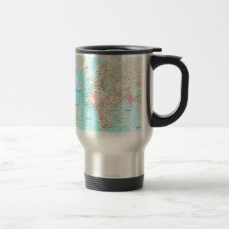 Map of the world coffee mug