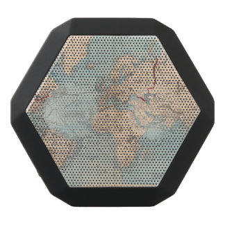 Map of the world on Mercator's projection Black Boombot Rex Bluetooth Speaker