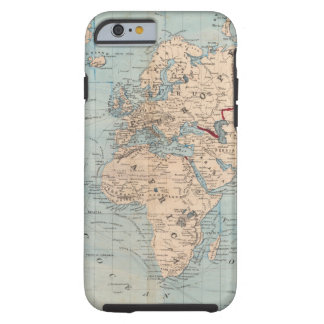 Map of the world on Mercator's projection Tough iPhone 6 Case