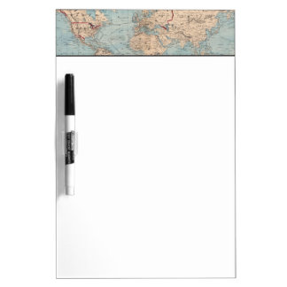 Map of the world on Mercator's projection Dry Erase Board