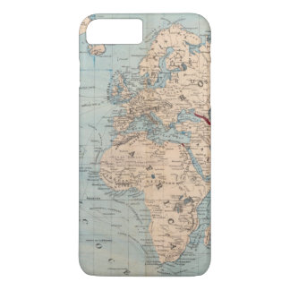 Map of the world on Mercator's projection iPhone 7 Plus Case