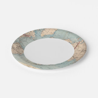 Map of the world on Mercator's projection Paper Plate