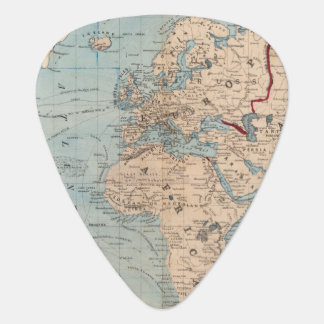 Map of the world on Mercator's projection Plectrum