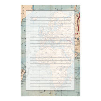 Map of the world on Mercator's projection Stationery