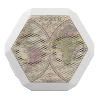 Map Of The World on the Globular Projection 2 White Boombot Rex Bluetooth Speaker