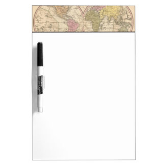 Map Of The World on the Globular Projection 2 Dry Erase Board