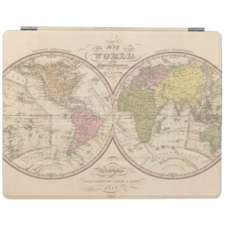 Map Of The World on the Globular Projection 2 iPad Cover