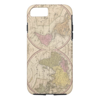 Map Of The World on the Globular Projection 2 iPhone 8/7 Case