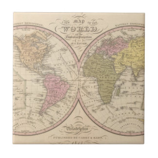 Map Of The World on the Globular Projection 2 Tile