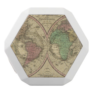 Map Of The World on the Globular Projection White Boombot Rex Bluetooth Speaker