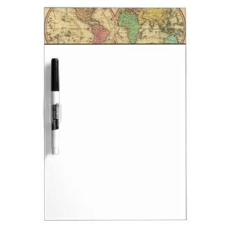 Map Of The World on the Globular Projection Dry Erase Board
