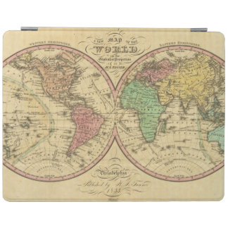 Map Of The World on the Globular Projection iPad Cover