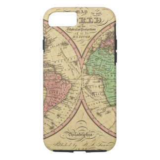 Map Of The World on the Globular Projection iPhone 8/7 Case