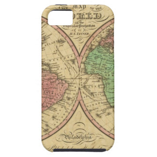 Map Of The World on the Globular Projection Tough iPhone 5 Case
