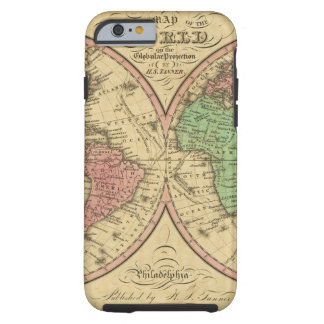 Map Of The World on the Globular Projection Tough iPhone 6 Case