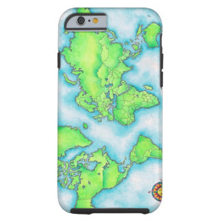 Map of the World Tough iPhone 6 Case