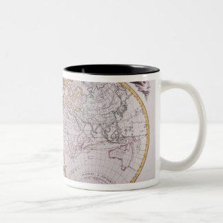 Map of the World Two-Tone Coffee Mug