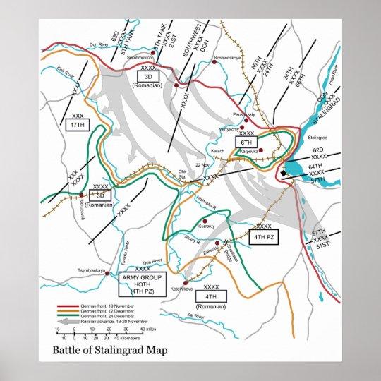 Map of the World War II Battle of