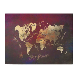 map of the world wood wood wall art