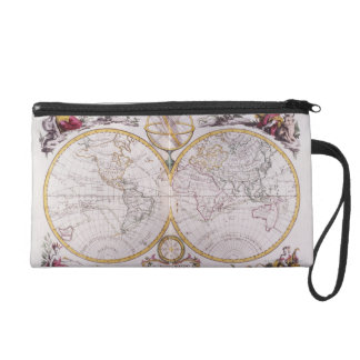 Map of the World Wristlet