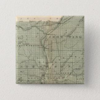Map of Todd, Morrison, Minnesota 15 Cm Square Badge
