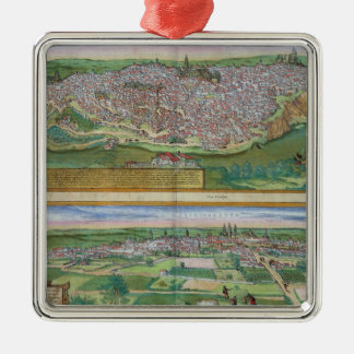 Map of Toledo and Valladolid, from 'Civitates Orbi Christmas Ornament
