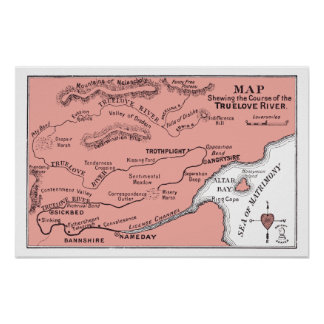 Map of Truelove River Poster