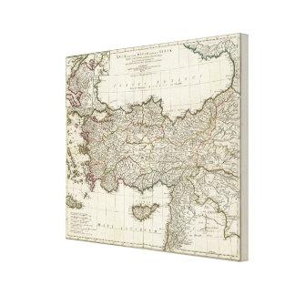 Map of Turkey Canvas Print