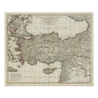 Map of Turkey Poster
