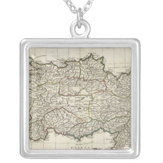 Map of Turkey Silver Plated Necklace