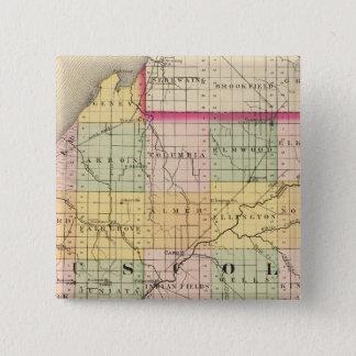 Map of Tuscola County, Michigan 15 Cm Square Badge